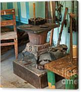 Taxidermy At The Holzwarth Historic Site Canvas Print