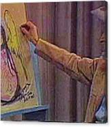 Ted Degrazia Drawing An Angel On Camera Kvoa Tv Screen Capture Christmas 1967 Canvas Print