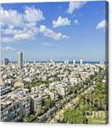 Tel Aviv Israel Elevated View Canvas Print