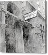 Telegraf Building In Foggy Oslo Canvas Print