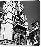 temple bar marker with dragon on the strand London England UK Canvas Print