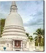 temple complex at the tropical island Sri Lanka Canvas Print