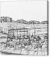 Tenby Harbor Panorama Canvas Print