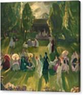 Tennis At Newport Canvas Print