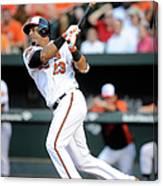 Texas Rangers V Baltimore Orioles 1 Canvas Print