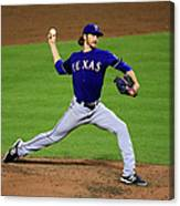 Texas Rangers V Baltimore Orioles 1 Canvas Print