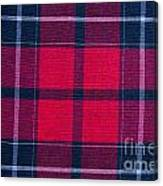 Texture Of Red-black Checkered Fabric  Canvas Print