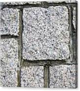 Texture Of Small Stone Structure Road  Canvas Print