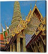 Thai-khmer Pagoda At Grand Palace Of Thailand In Bangkok Canvas Print