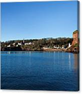 Thatched Cottages, Dunmore Strand Canvas Print