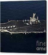 The Aircraft Carrier Uss John C Canvas Print