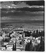 The Alhambra And Albaycin In Granada Canvas Print