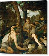 Adam And Eve After The Expulsion From Paradise Canvas Print