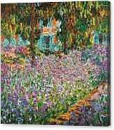 The Artists Garden At Giverny Canvas Print