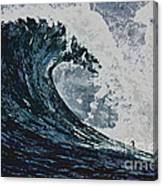 The Blue Crush Canvas Print