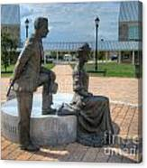 The Catherine And Milton Hershey Statue Canvas Print
