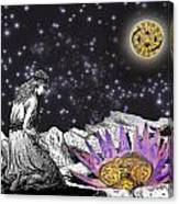 The Clock's Petals Open Canvas Print
