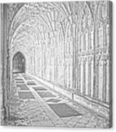 The Cloister In Gloucester Cathedral Canvas Print