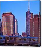 The El In Chicago  Canvas Print