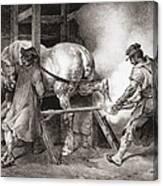 The Farrier, From Etudes De Cheveaux Canvas Print
