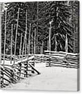 The Fence Of Kovero Canvas Print