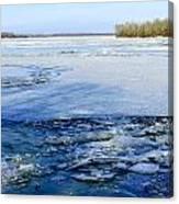 The Frozen Dnieper River Canvas Print