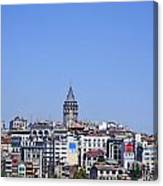 The Galata Tower And Istanbul City Skyline In Turkey   Canvas Print