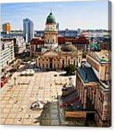 The Gendarmenmarkt And German Cathedral In Berlin Canvas Print