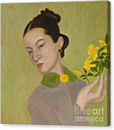 The Golden Kiss Of Spring Canvas Print