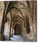 The Gothic Cloisters Inside The Crusader Castle Of Krak Des Chevaliers Syria Canvas Print