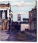 The Gun Public House Isle Of Dogs London Canvas Print