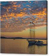 The Harbor At Sunrise Canvas Print