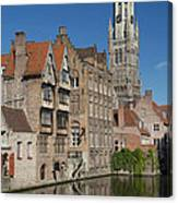The Historic Center Of Bruges Canvas Print