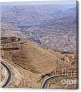 The King's Highway At Wadi Mujib Jordan Canvas Print