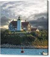 The Light At Nobska Point Photo Art Canvas Print