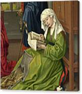 The Magdalen Reading Canvas Print