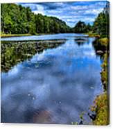 The Majestic Bald Mountain Pond Canvas Print