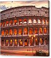 The Majestic Coliseum - Rome - Italy Canvas Print