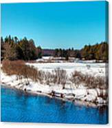 The Moose River - Old Forge New York Canvas Print