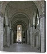 The Nave - Cloister Fontevraud Canvas Print