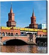 The Oberbaum Bridge In Berlin Germany Canvas Print
