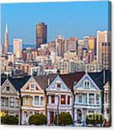The Painted Ladies Of San Francisco Canvas Print