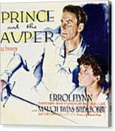 The Prince And The Pauper, Errol Flynn Canvas Print