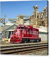 The Red Locomotive Canvas Print
