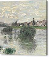 The Seine At Lavacourt Canvas Print