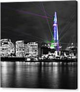 The Shard Lasers Canvas Print