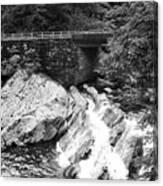 The Sinks Smoky Mountains Bw Canvas Print
