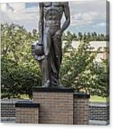 The Spartan Statue At Msu Canvas Print