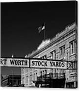 The Stock Yards Of Fort Worth Canvas Print