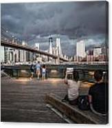 The Storm Over Manhattan Canvas Print